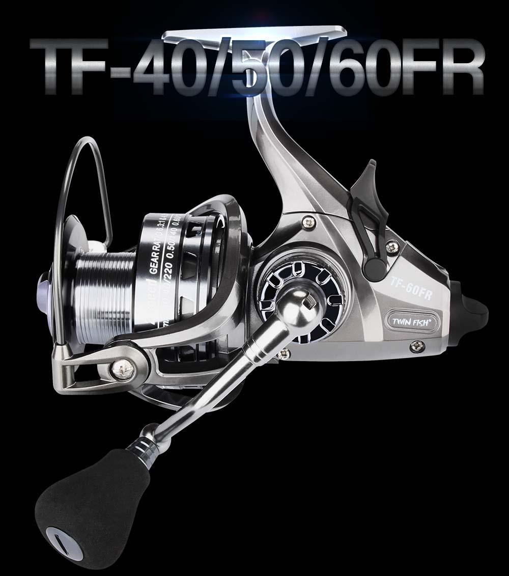 RoseWood 2 Speed 6.31 4.31 Front And Real Dual Braking Spinning Reel 12+1 S.S Bearings Carp Fishing Reels + Spare Spool  (1)