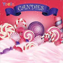 Yeele Vinyl Candy Dessert Children Birthday Party Photograph Backdrop Baby Girl Princess Photocall Background Photo Studio