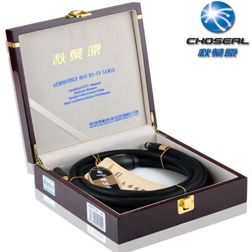 Haut de gamme Choseal AA 5401 salut FI Auido ligne AV câble, 2RCA mâle à 2RCA mâle 6N haute pureté monocristallin cuivre, 1.5 M/5FT, noir
