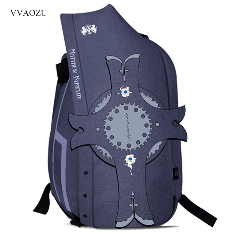 цена Fate Grand Order Cartoon Backpack Fate/stay night Zero Saber Cosplay Prop Shield 17 Inch Computer Shoulder Bag Travel Schoolbag
