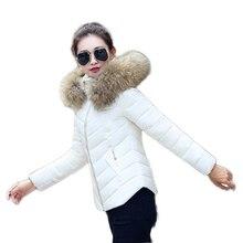 Женский зимняя куртка 2016 роскошью моды Корейских женщин короткий параграф Slim Down Надьямарош воротник куртки пальто США jaqueta Нина