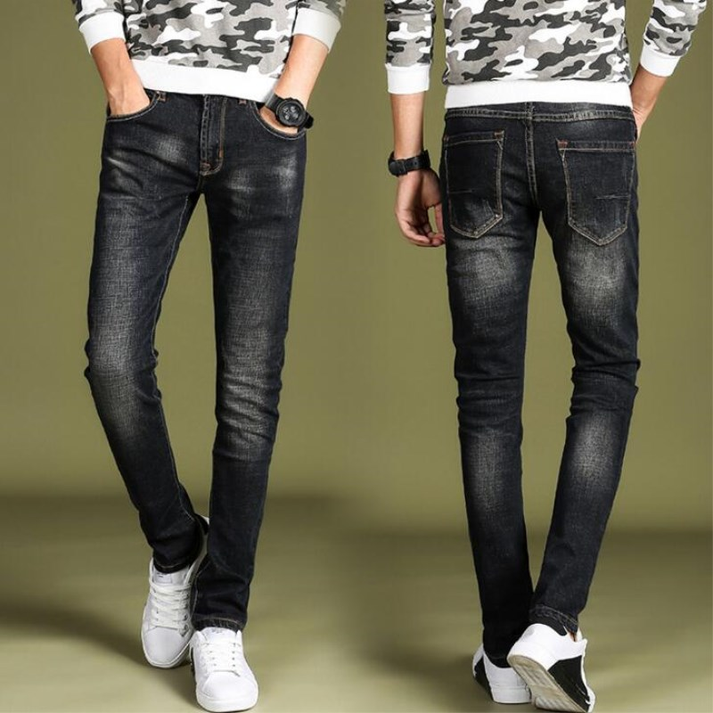 Fashion Pencil Denim Pants Men 2018 New Coming Slim Stretch Cotton Jeans Man Elastic Casual Skinny Jeans Long Trousers Homme
