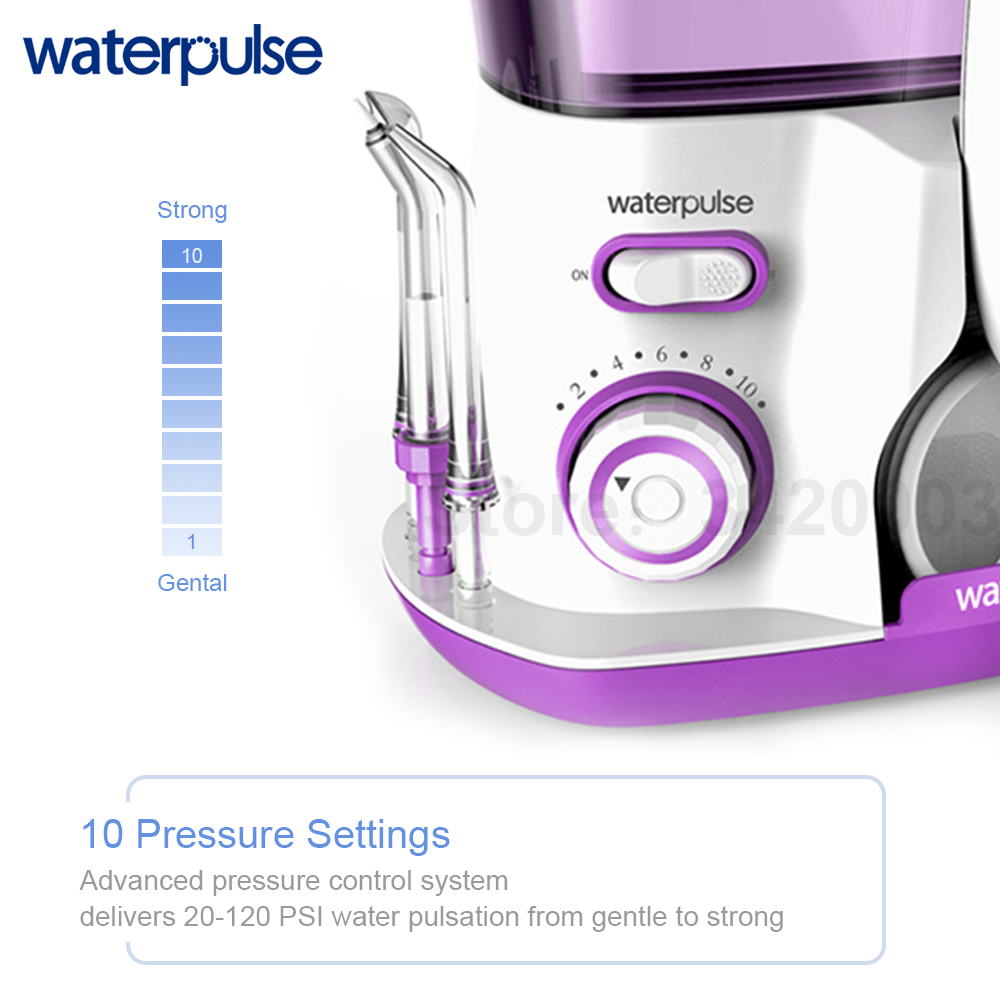 Image 2 - Waterpulse V300R Water Flosser With 5 Tips Electric Oral Irrigator Dental Flosser 800ml Capacity Oral Hygiene For Family Care-in Oral Irrigators from Home Appliances