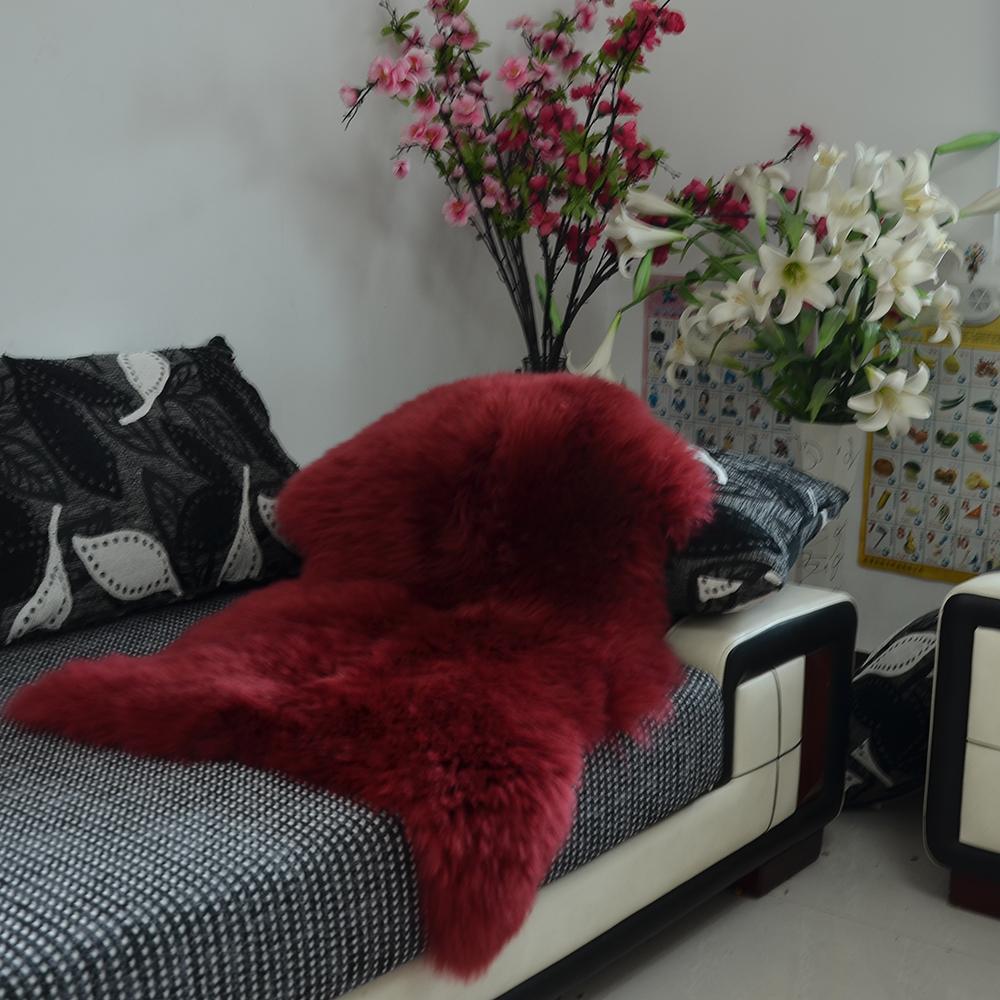 Luxe Faux peau de mouton agneau naturel Long laine fourrure tapis tapis tapis chambre-in Tapis from Maison & Animalerie    3