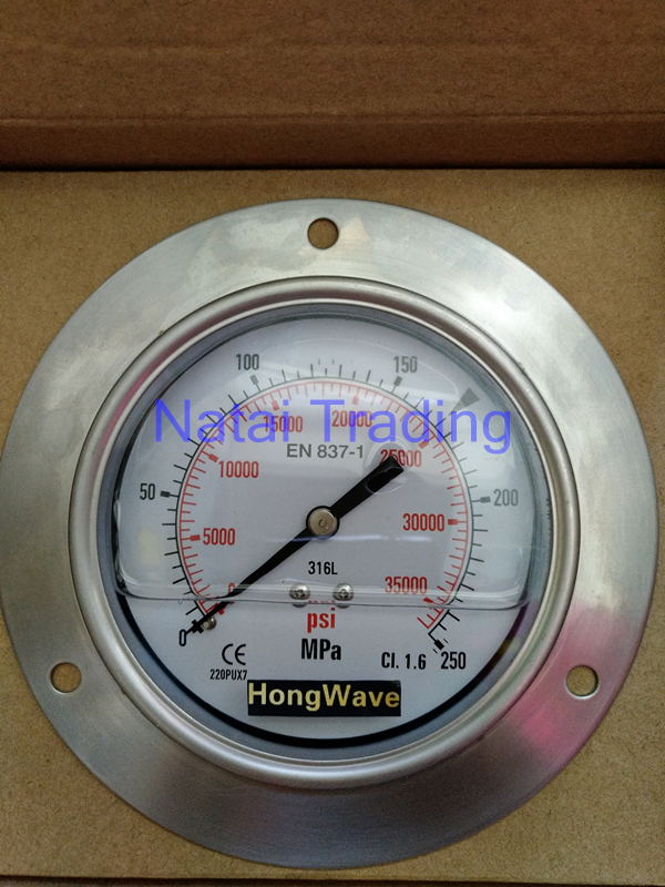 High Pressure Meter : Shock proof silicone oil filled pressure gauge mpa high