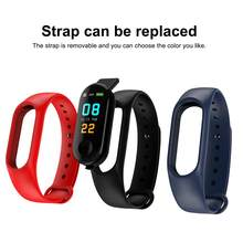 M3 Color Screen Smart Bracelet Android Ios Pedometer Fitness Tracker Heart Rate Information Push Reminder Waterproof Smart Watch(China)