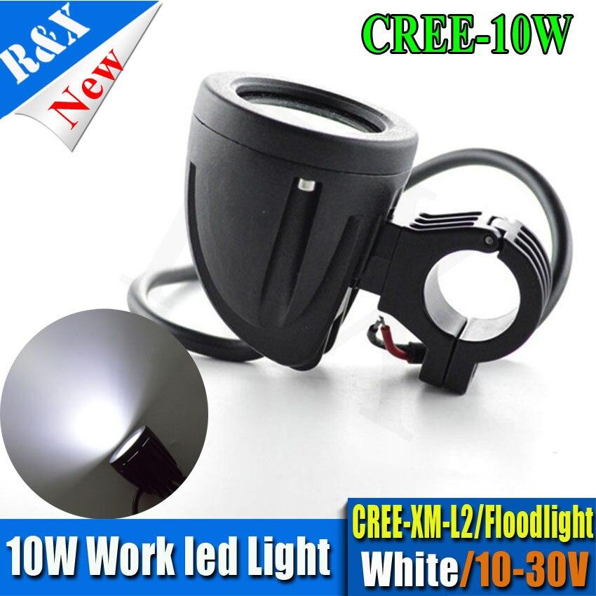 1pc 2 10W LED Work Light Fog light Spot Flood LED Work light External Light for Handbar ATV SUV Motorcycle Offroad Bike cars