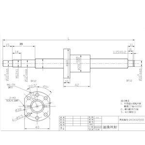 Image 5 - SFU1605 ชุด: SFU1605 รีดสกรูบอล C7 ด้วยปลายกลึง + 1605 nut + อ่อนนุช + BK/BF12 end สนับสนุน + coupler RM1605