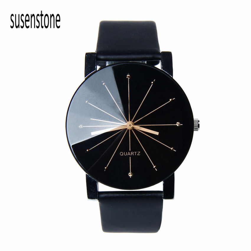 Black&White Relojes Hombre Men Quartz Watch Saat Dial Glass Time Men Clock Leather Business Wristwatch Round Case Hour Watches  pure white dial face ziz time watches navy