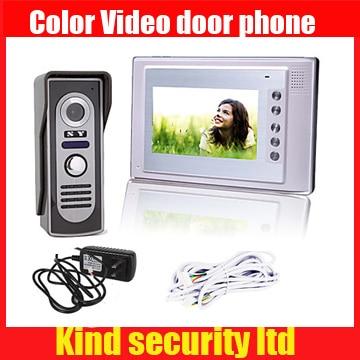 7 Inch Color TFT LCD Video Door Phone Intercom System with Waterproof Cover Camera (420 TVL) , unlock function, night vision недорго, оригинальная цена