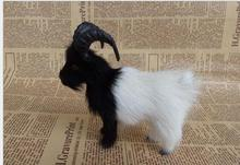 WYZHY Simulation black-headed white sheep fur animal home decoration photography props 12X13CM
