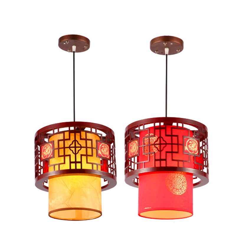 Chinese Style Wooden Teahouse Pendant Lamp Vintage Classic Dining Room Pendant Light Balcony Corridor Pendant Lights southeast asia chinese style wooden veneer pendant lights living room restaurant lamp dining room lights