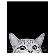 WEEN Naughty Cat DIY Painting Paint by Numbers Animal Drawing With Brushes For Adults Beginner Level Wall Art 40*50cm Gift
