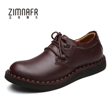 Мужские защитные рабочие ботинки Low Cut коричневый Натуральная кожа мужская обувь роскошные Туфли-оксфорды Повседневная Деловая обувь Брендовое платье обувь