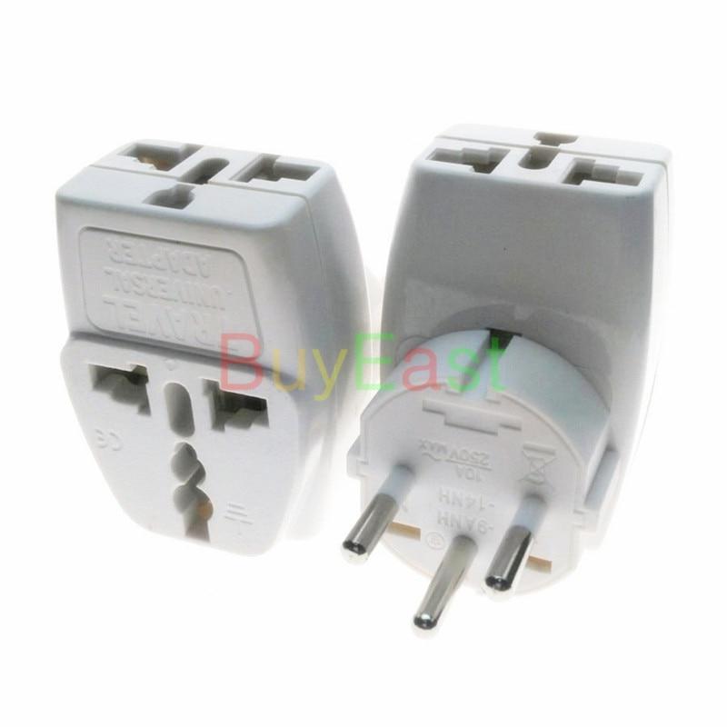 1 PC EU Electrical Plug Adapter Max 250V 10A 3 Way Outlet Change World Plug
