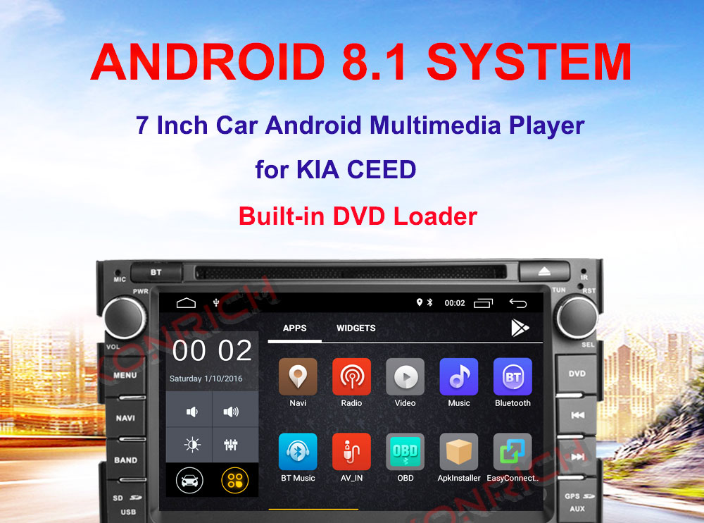 US $288 48 |Android 8 1 Car DVD Stere0 Radio For Kia Ceed 2010 2012 Mirror  Link Capacitive Touch Screen Multipoint OBD Multimedia Player GPS-in Car