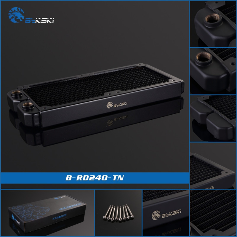 Bykski B-RD240-TN, 240mm Single Row Radiators, 28mm Thickness, Standard Water Cooling Radiators , Suitable For 120*120mm Fans 520w cooling capacity fridge compressor r134a suitable for supermaket cooling equipment