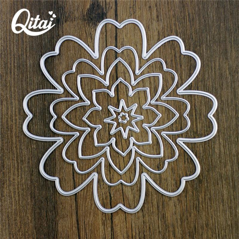 8pcs Flower Set Metal Cutting Dies For DIY Scrapbooking Album Paper Cards  ML