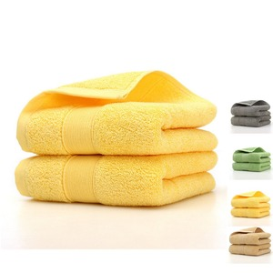 Image 1 - 2pcs Egyptian Cotton Face Towel bathroom Solid Color Sports Towel 5 Star Hotel Home Use High Quality 35*75cm Face Towels
