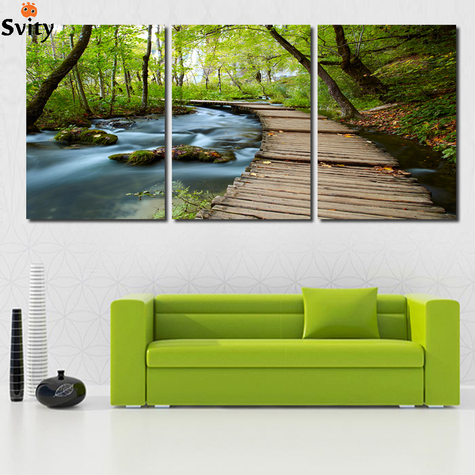 Aliexpress Com Buy Free Shipping 3 Piece Wall Decor: Free Shipping 3 Piece Wall Art Picture On Canvas The
