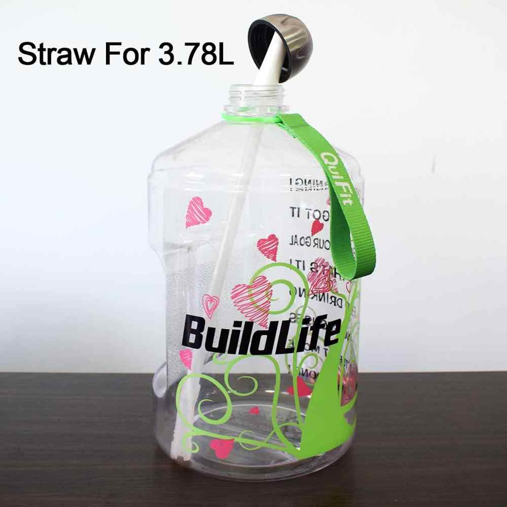 2//4//6Pcs Plastic Straws Drinking Set Replacement Drinks Cleaning Flexible Bottle