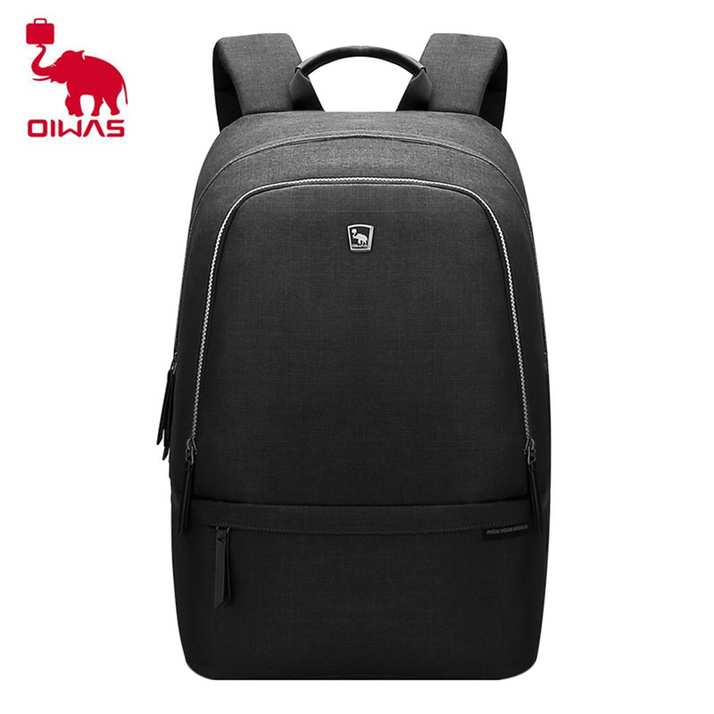 Oiwas Leisure Backpack Design With Tie Rod Fixing Band Shoulder Bag For Laptop Fashion Backpack Suitable For Business Travel Bag lowepro protactic 450 aw backpack rain professional slr for two cameras bag shoulder camera bag dslr 15 inch laptop