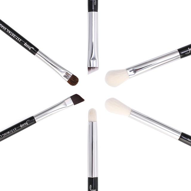 Jessup Black/Silver Professional Makeup Brushes Set Make up Brush Beauty Tools kit Eye Shader Liner natural-synthetic hair 2