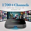 2017 Europa IPTV Árabe Caja de Sky Sports Películas Canal Plus 1700 envío Iptv Suscripción Italia REINO UNIDO Francés Rusia Smart Set Top Box