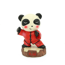 E-FOUR Chinese Traditional Tai Chi Panda Ornament KungFu Fighting Doll Poly Hand-painted Color Special Gift Decoration Style Car