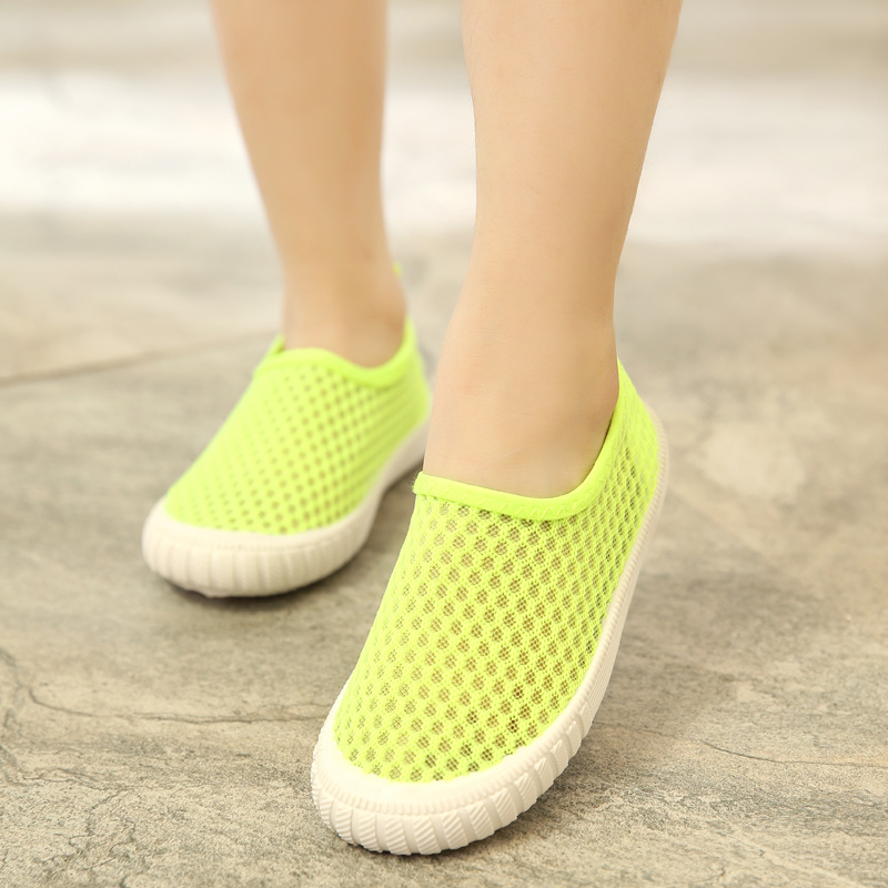 New Summer Girls Shoes Hollow Breathable Sneakers For Children Wear Resistance Comfortab ...