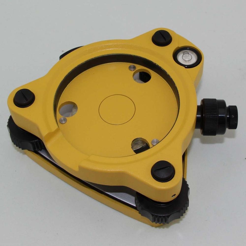 NOVO Amarelo-TRÊS JAW Tribrach com prumo óptico para estações totais