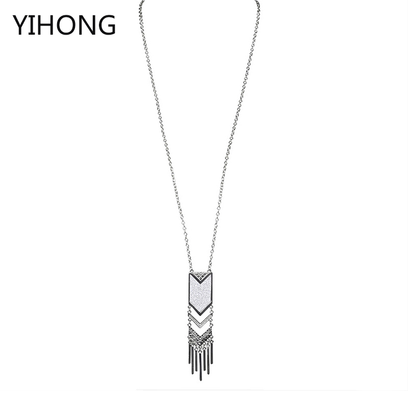 Hot Sale Fashion Long Chain Necklace & Pendants Tassle Vintage Necklace For Women Collier Jewelry Wholesale