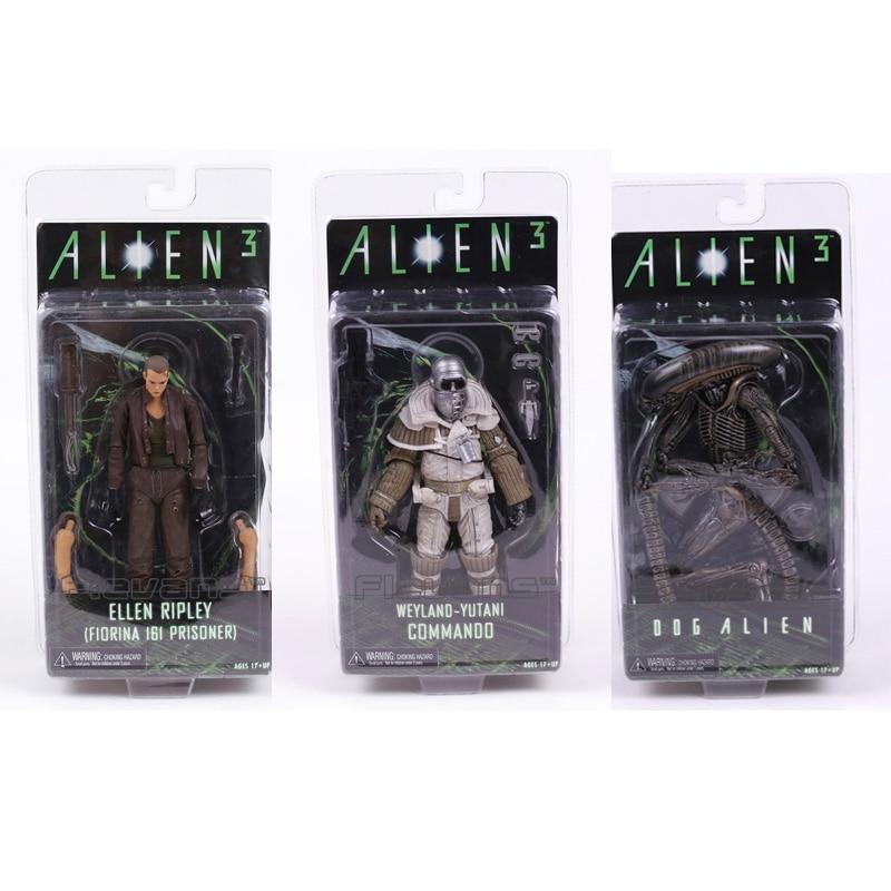 ALIEN 3 Ellen Ripley / Dog Alien / Weyland Yutani Commando PVC Action Figure Collectible Model Toy neca alien 3 dog alien pvc action figure collectible model toy 7 18cm