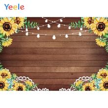 Yeele Woodland Sun Flowers Party Wedding Photocall Personalized Photography Backdrops Photographic Backgrounds For Photos Studio