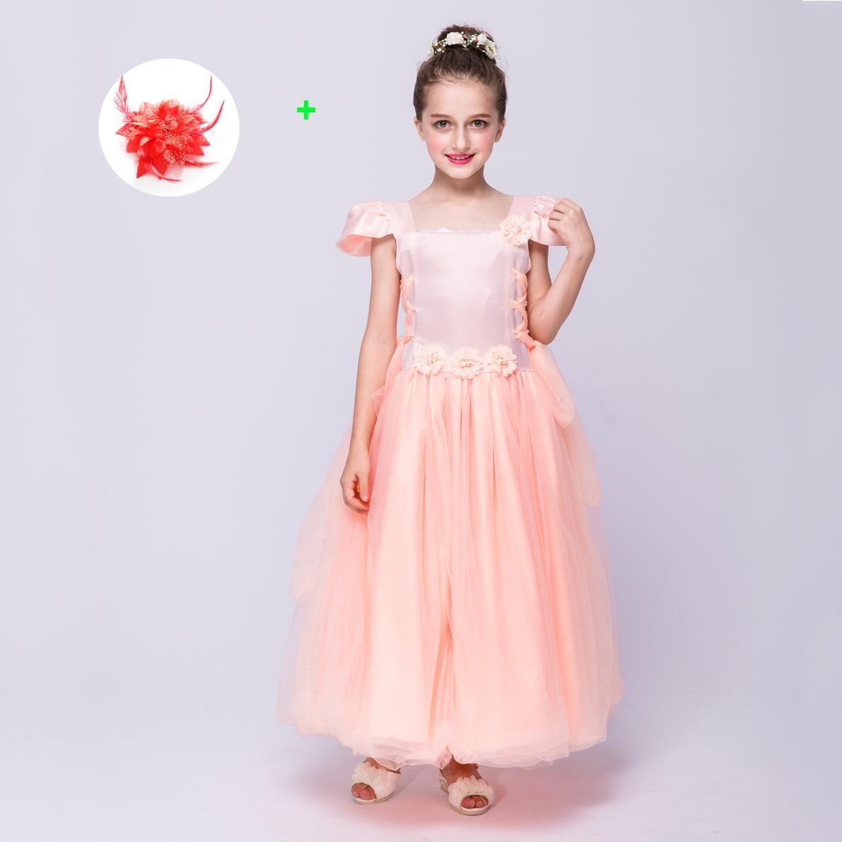 Tienda Online Flores de color rosa niña vestido coreano país Parte ...