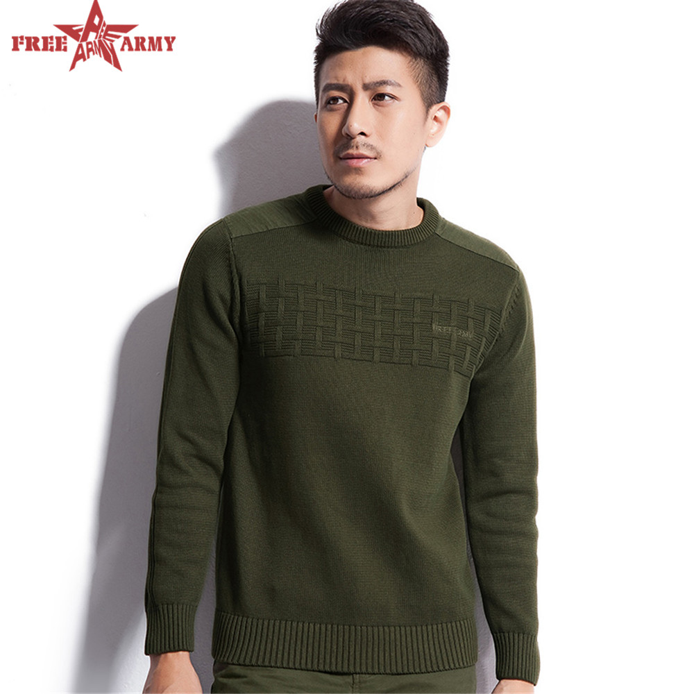 winter Men's Pullover Cotton Sweater coat male casual sweater ...
