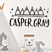 Cute casper gray Nursery Wall Stickers Vinyl Art Decals For Kids Rooms Decoration Sticker Living Room
