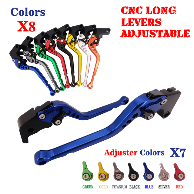 CNC Long Adjustable Brake Clutch Lever For Yamaha XJR400 1993-2007 FZ400 1997 FZS600 Fazer 1998-2003 FZS 600 NEW