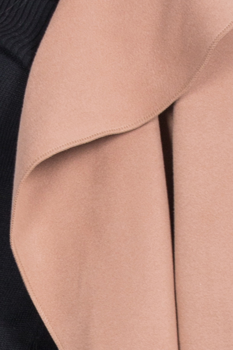 Simplee Black ruffle warm winter coat Women turndown long coat collar overcoat female Casual autumn 16 pink outerwear 7