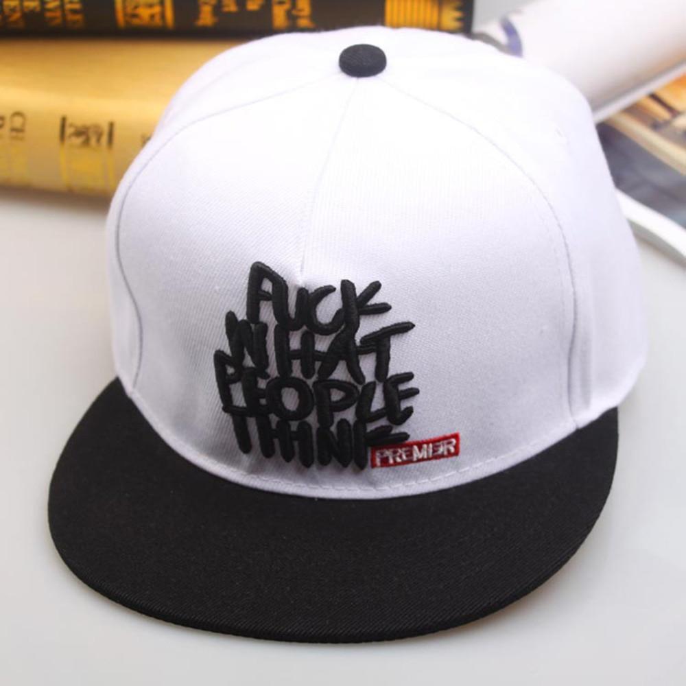 Boys Style Hip Hop Baseball Cap Adjustable Cotton casual hat Simple Letter embroidery Leisure Caps Snapback Snap Hip-Hop Hats