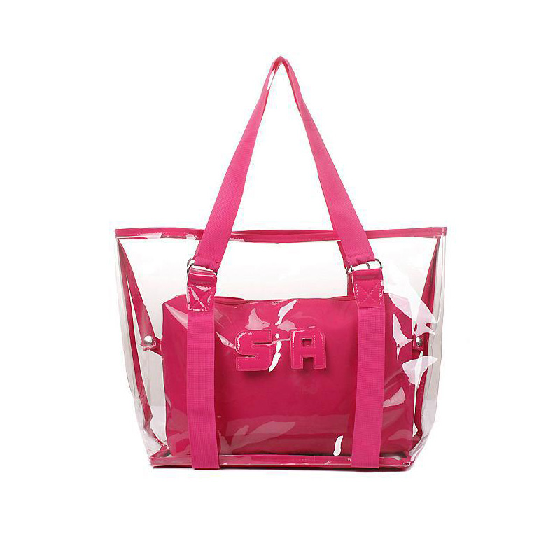 2016 New Plastic Ladies Transparent Bags Waterproof Summer Beach ...