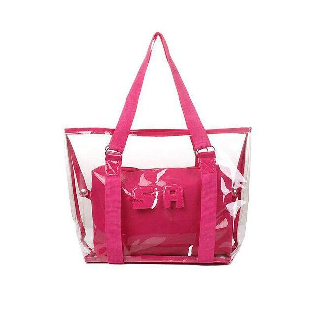 2016 New Plastic Ladies Transparent Bags Waterproof Summer Beach ...