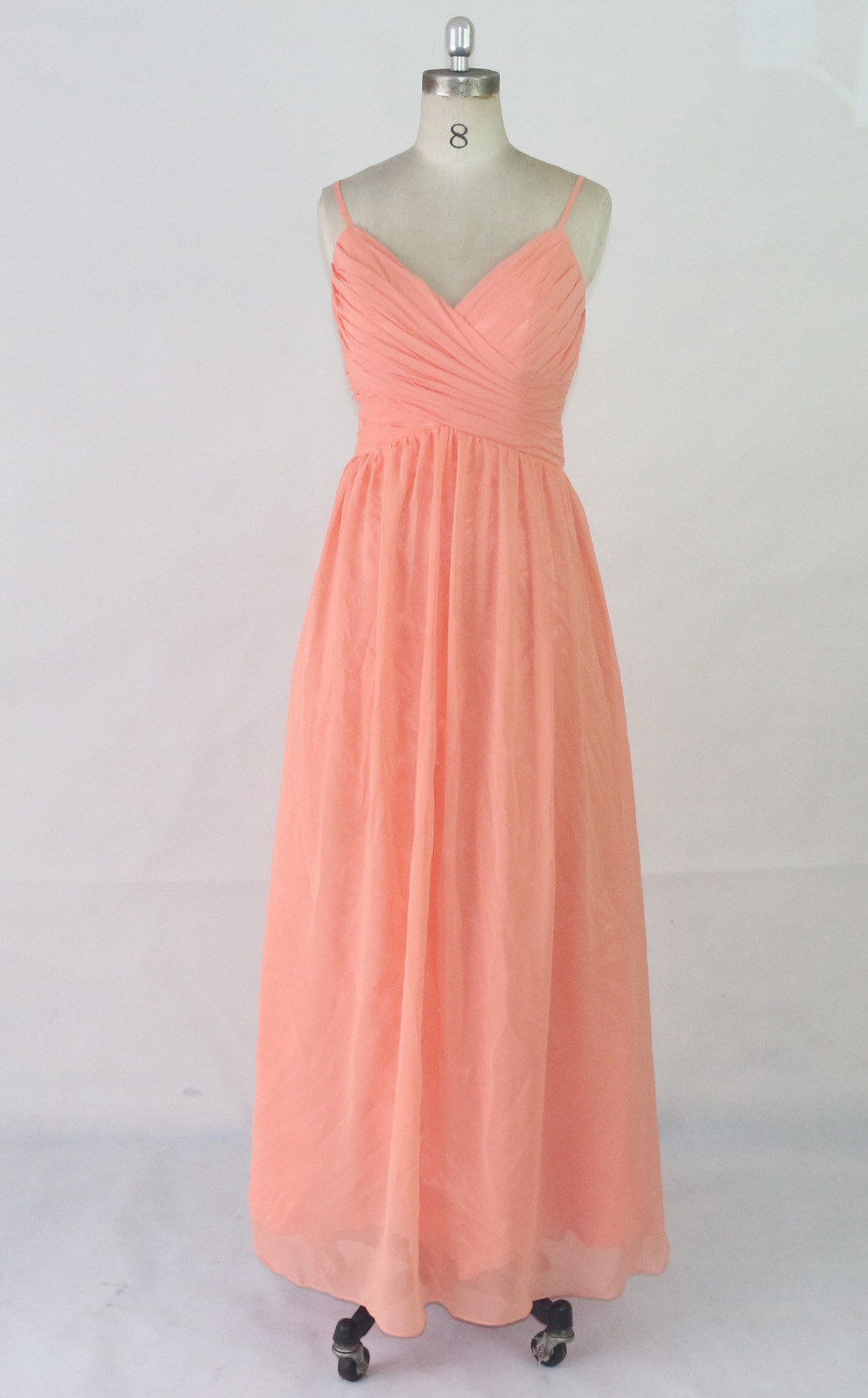 Orange bridesmaid dress sweet heart collar lace chiffon fabric Factory  Outlet low cost wholesale prom dress