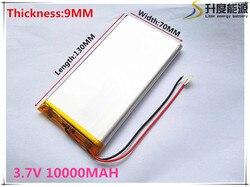 Polymer battery 10000 mah 3.7V 9070130 smart home MP3 speakers Li-ion battery for dvr,GPS,mp3,mp4,cell phone,speak