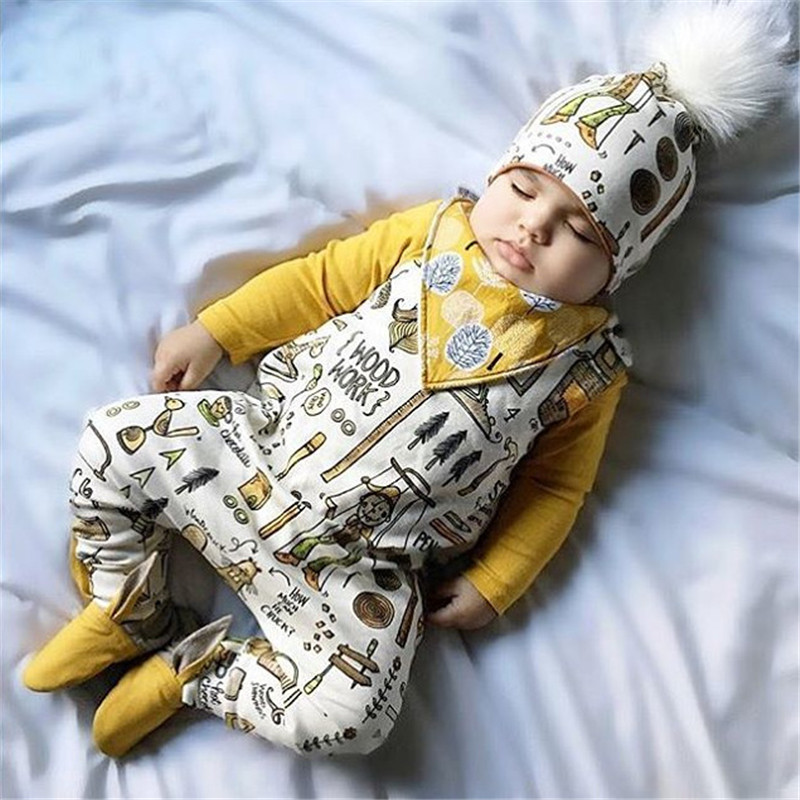2018Hurave Baby Girls Baby Girls Childrens Clothes sleeveless cotton o-neck printing jumpersuit causal kids Clothing romper