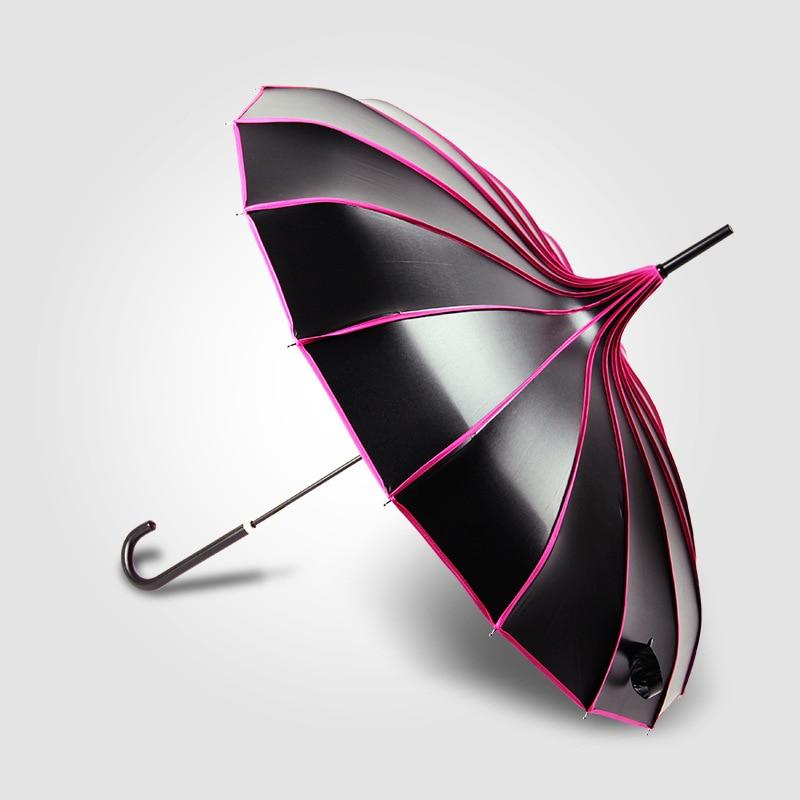 5 Colors Pagoda Palace Creative UV Protection Golf Umbrella Lady Princess Royal Long-handled Rainy Sunny Umbrella S2017390