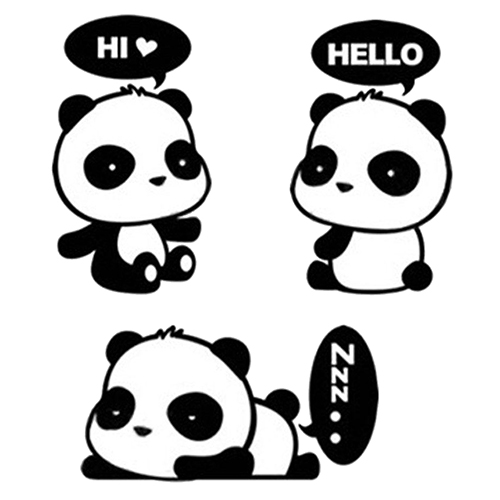 Us 146 28 Off1pc Lovely Cartoon Panda Room Window Door Decals Decor Removable Wall Switch Sticker For Kids Room Wall Decals Home Decoration In