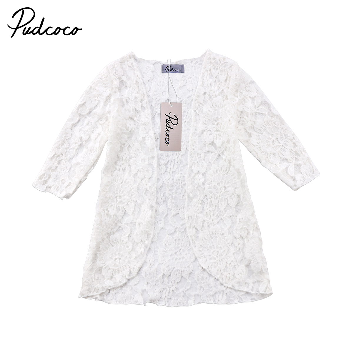 2018 Brand New Toddler Infant Child Kids Baby Girl Lace Floral Sunscreen Beach Dress Rashguard Clothes Cover Outerwear 6M-5T rashguard mergulho rashguard a808