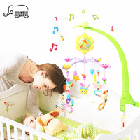 Baby Musical Crib Mobile Bed Bell Toys 0 12 Months Music Story Infant Plastic Hanging bell Music Box Rattles Rotating Holder Toy