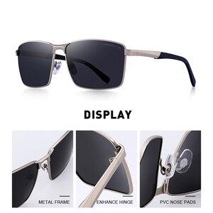 Image 2 - MERRYS デザイン男性クラシック長方形サングラス HD 用の偏光サングラス駆動 TR90 脚 UV400 保護 S8380